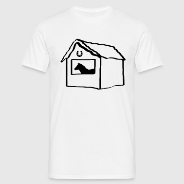 Horse and Stable  - Men's T-Shirt