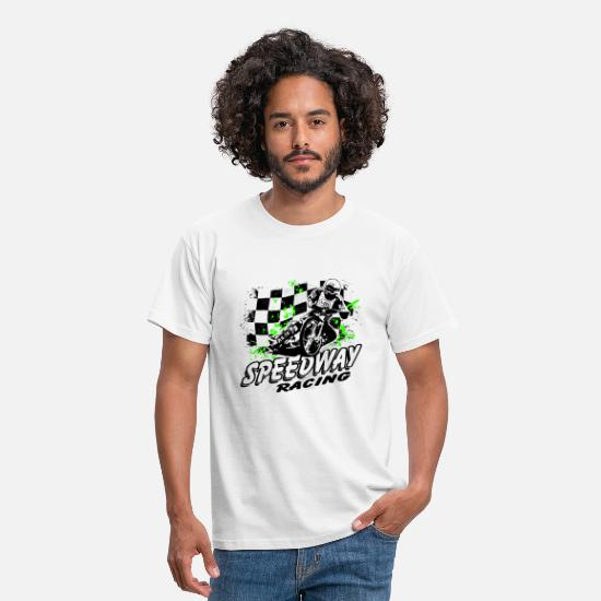 Motorcycle T-Shirts - Speedway Racing - Men's T-Shirt white