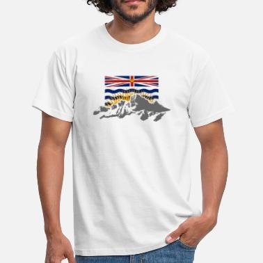 British Columbia British Columbia - Flag & Mountains - Männer T-Shirt