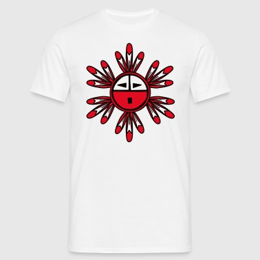 Hopi Kachina  Sun Symbol - Men's T-Shirt