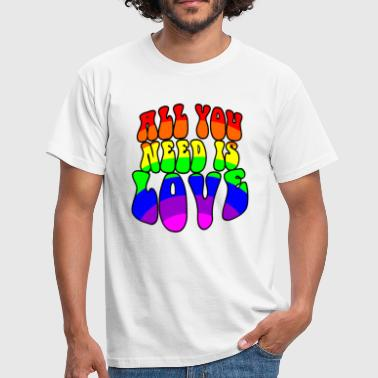 Gay pride All you need is love - Men's T-Shirt