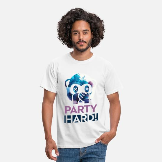 Party T-Shirts - Party Hard! - Männer T-Shirt Weiß