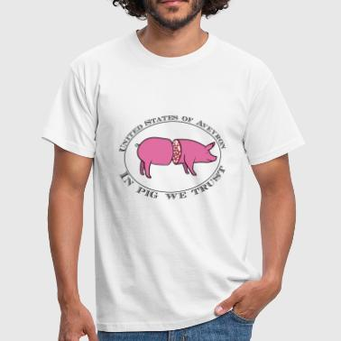 U.S. Aveyron in pig we trust - T-shirt Homme