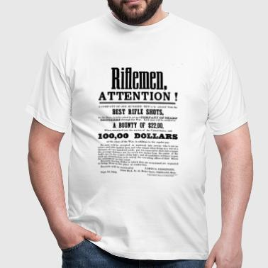 Civil war era sharpshooter recruitment poster - Männer T-Shirt