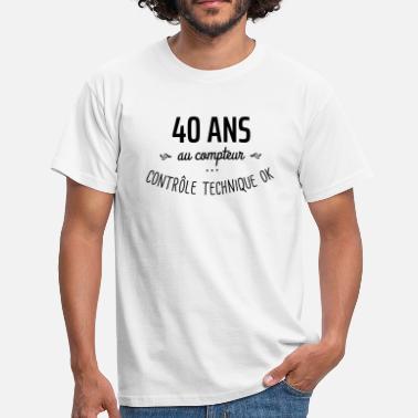 Tee Shirt 40 Ans à Commander En Ligne Spreadshirt