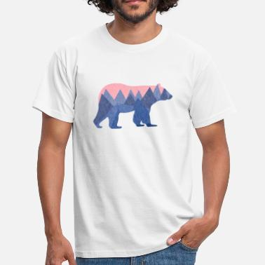 Nature mountain bear - Mannen T-shirt