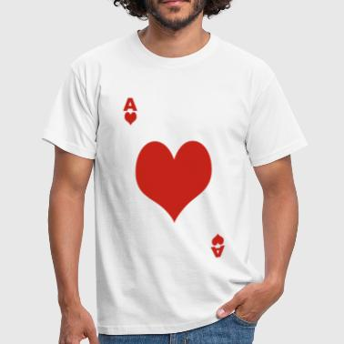 poker coeur - T-shirt Homme