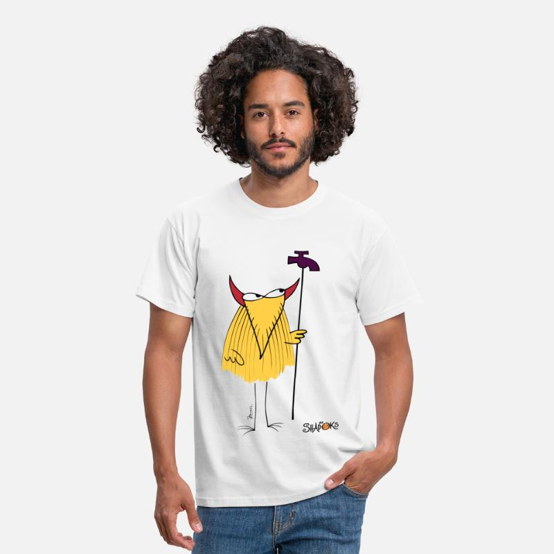 Shadoks T-shirts - Le devin plombier Shadoks - T-shirt Homme blanc