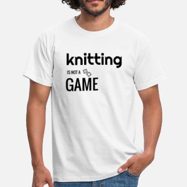Humour Tricot Tricot / Tricoter / Tricoteuse / Broderie - T-shirt Homme