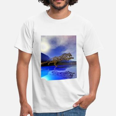 Lagoon Blue Lagoon - Men's T-Shirt