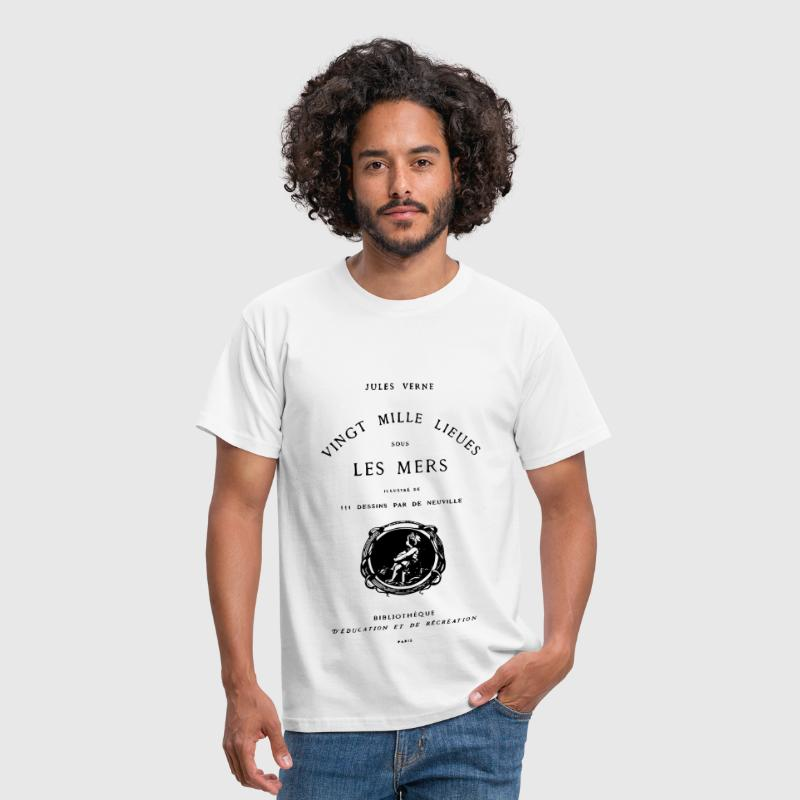 Verne book cover - Men's T-Shirt