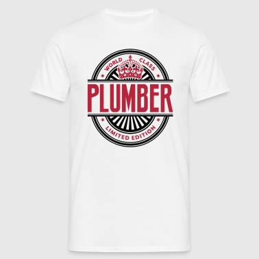 World class plumber limited edition best logo - Men's T-Shirt