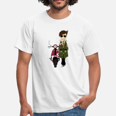 Retro Mod Mod Boy & Retro Scooter - Men's T-Shirt