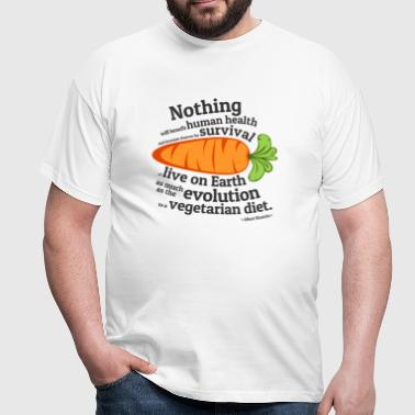 Vegan  Quote - EVOLUTION - Men's T-Shirt