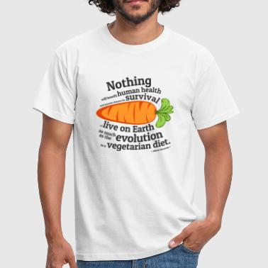 Evolution Science Vegan  Quote - EVOLUTION - Men's T-Shirt
