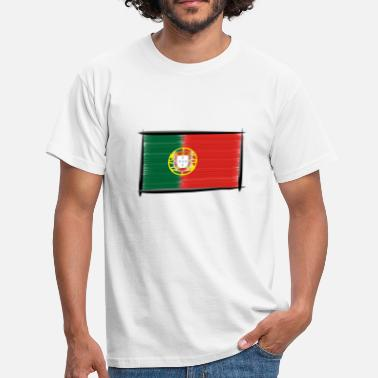 Art Flagge Portugal - Männer T-Shirt