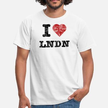 I Love LoNDoN vintage dark - Mannen T-shirt