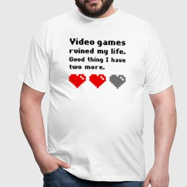 Video games ruined my life - Herre-T-shirt