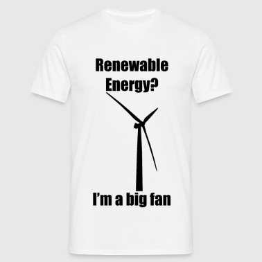Renewable Energy - Black - Men's T-Shirt