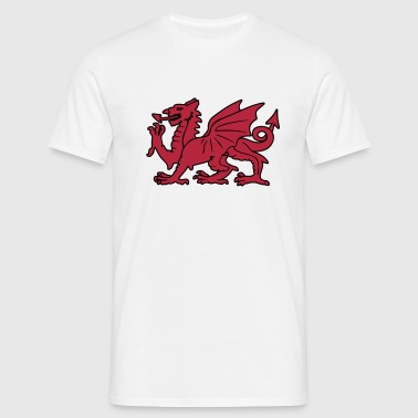 dragon rouge gallois - T-shirt Homme