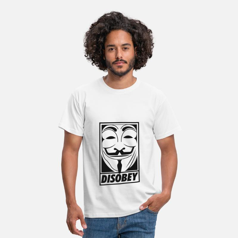 Anonymous T-Shirts - Anonymous disobey - Men's T-Shirt white