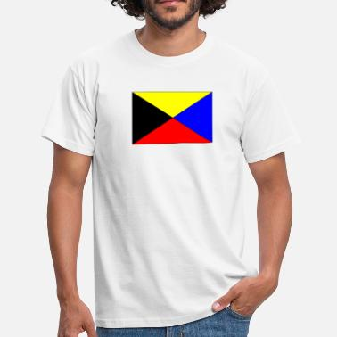 Zulu zulu nav flag - Men's T-Shirt