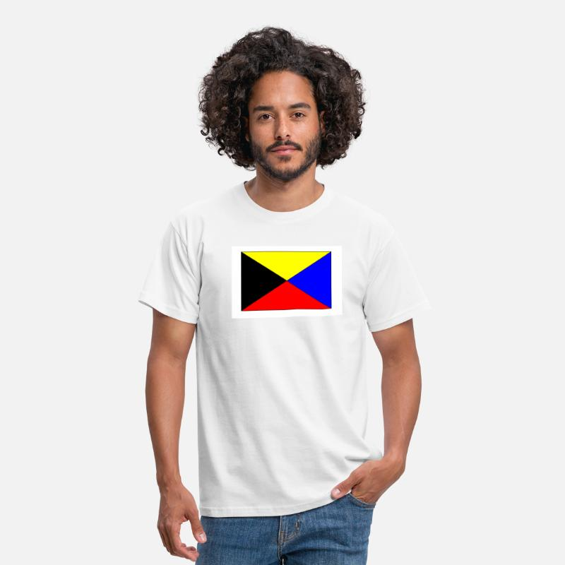 Zulu T-Shirts - zulu nav flag - Men's T-Shirt white