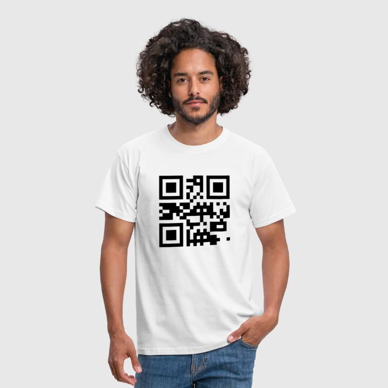 QR Code - SEND NUDES  - Men's T-Shirt