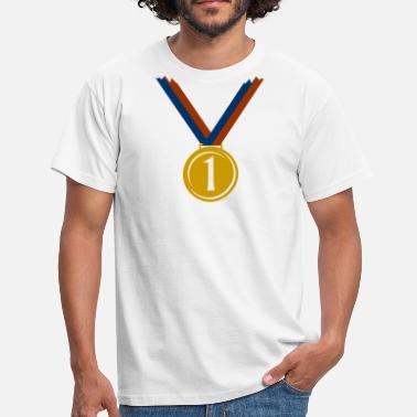 First Place Gold medal for first place  - Men's T-Shirt