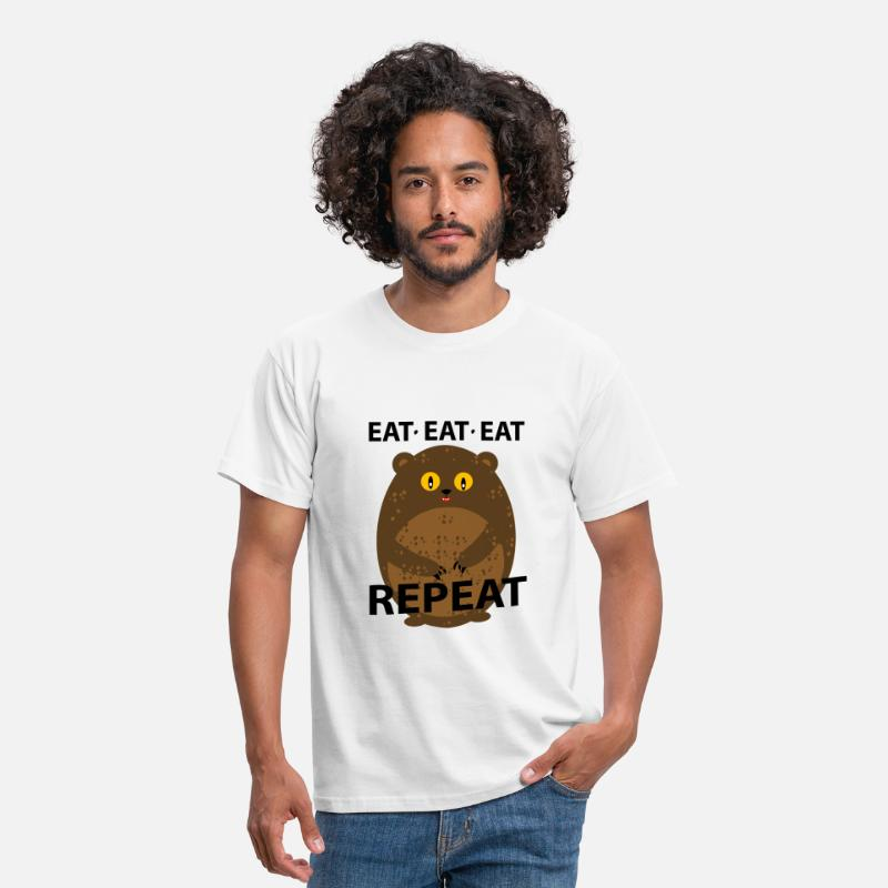 Teddy T-Shirts - eat - Mannen T-shirt wit