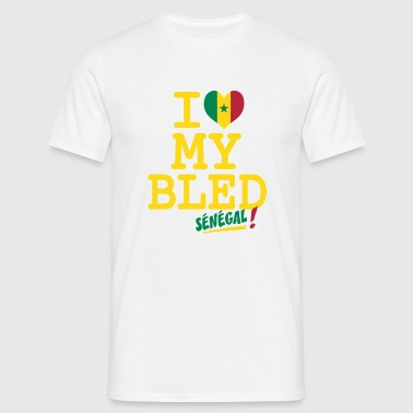 I love MY BLED Senegal_ - Men's T-Shirt