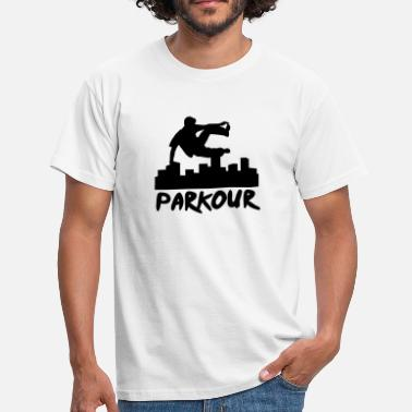 Parkour Free Running Free running in the city, parkour - Men's T-Shirt