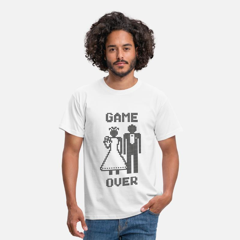 Game Over T-Shirts - Game Over - Mannen T-shirt wit