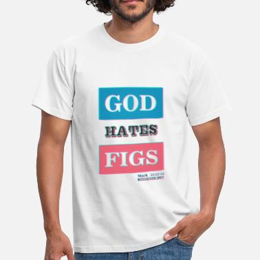 Baptiste God hates figs 3D. Black. - Camiseta hombre