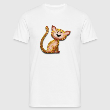 Purrnickerty the cat -  Sitting - Men's T-Shirt