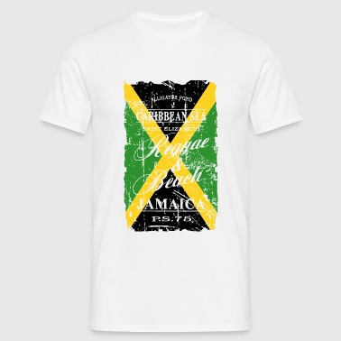 Jamaica Flag - Vintage Look - T-shirt herr