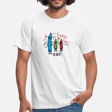 Crayons He did it - wasco crayons - Men's T-Shirt