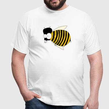 freaky bee - Mannen T-shirt