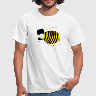 freaky bee - T-skjorte for menn