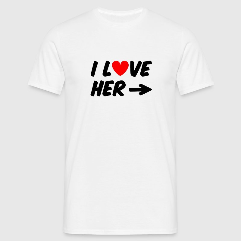 I love her - T-shirt Homme