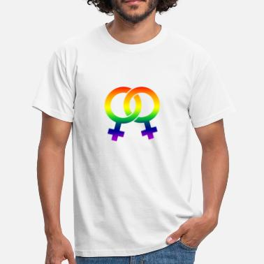 double venus rainbow - T-shirt Homme