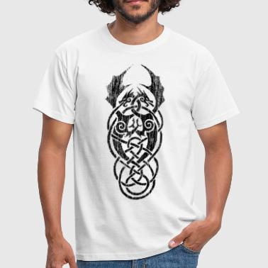 celtic dragons black - Männer T-Shirt