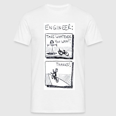 The naked truth about engineers. - Men's T-Shirt