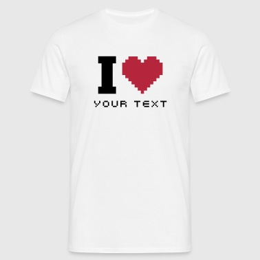 I heart / I Love - Men's T-Shirt