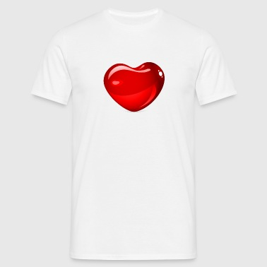 heart in 3d - Mannen T-shirt