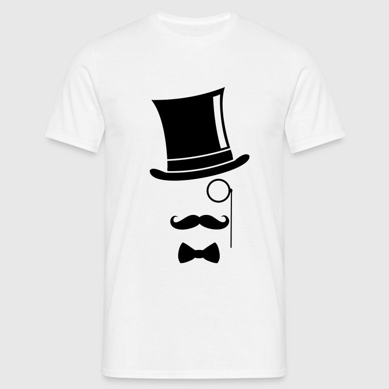 Funny - Top Hat Monocle - Men's T-Shirt