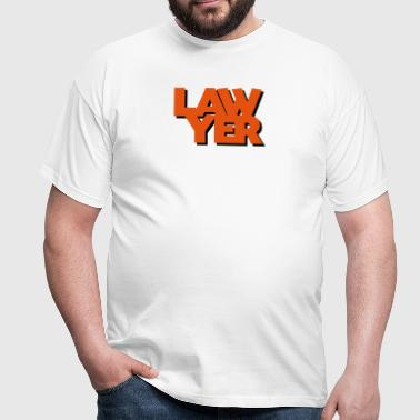 lawyer coolest text logo copy - Men's T-Shirt