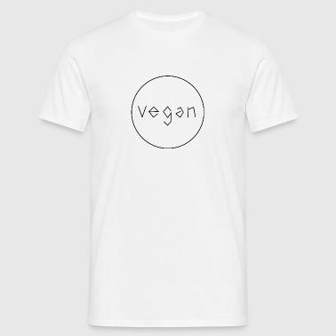 Vegan Minimalist Text - Mannen T-shirt