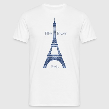 Eiffel Tower - Männer T-Shirt