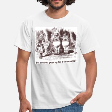 Wonderland Alice Wants a Threesome - Men's T-Shirt